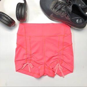 Lululemon Hot Yoga Ruched Short Hot Pink 4